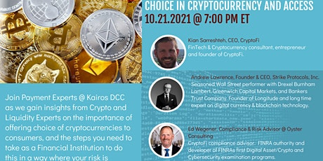 Access and Choice in Cryptocurrency tickets