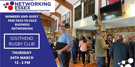 (FREE) Networking Essex Southend Thursday 24th March 12pm-2pm tickets