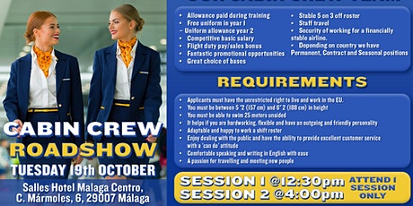 Ryanair Cabin Crew Recruitment Roadshow - Malaga entradas