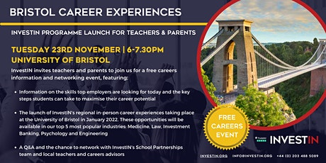 InvestIN: Launch of Bristol Career Experiences tickets