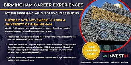 InvestIN: Launch of Birmingham Career Experiences tickets