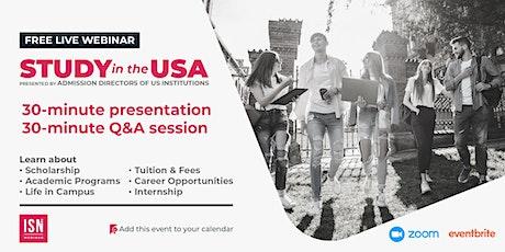 Study in the USA Webinar for East Asia biglietti