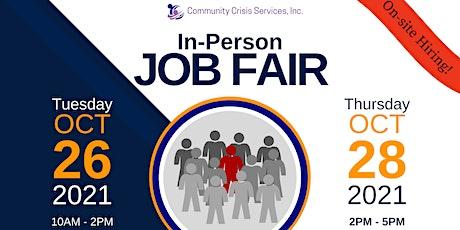 Community Crisis Services. Inc. JOB FAIR tickets