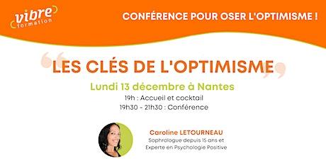 Conférence pour oser l'optimisme billets