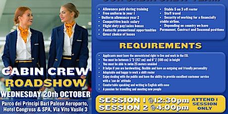 Ryanair Cabin Crew Recruitment Roadshow - Bari biglietti