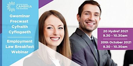 Employment Law Breakfast Webinar tickets