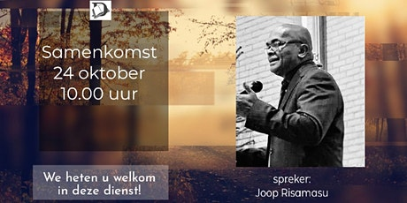 Samenkomst Zondag 24 Oktober tickets