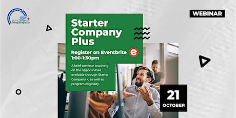Starter Company Plus Info Webinar tickets