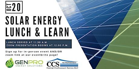 Solar Energy Lunch & Learn tickets