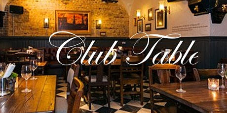 October's Gresham Club Table tickets