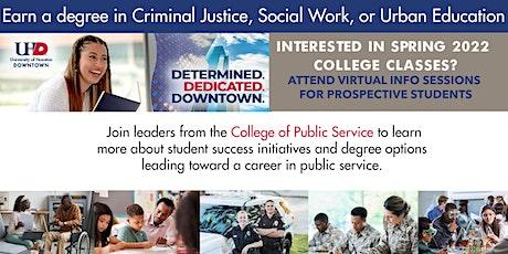 Earn Your Degree - Teacher Edu, Criminal Justice, Social Work - UH Downtown tickets