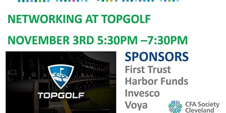 Golf, Networking, Drinks and Appetizers at Topgolf, November 3, 5:30-7:30PM tickets