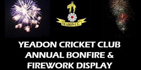 Yeadon Cricket Club - 2021 Bonfire & Fireworks Display tickets