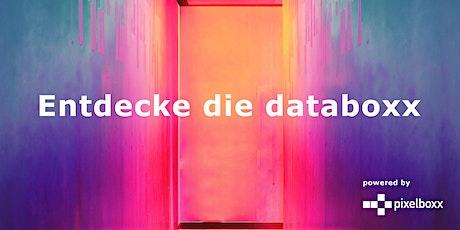 Pixelboxx Produktpräsentation databoxx München Tickets