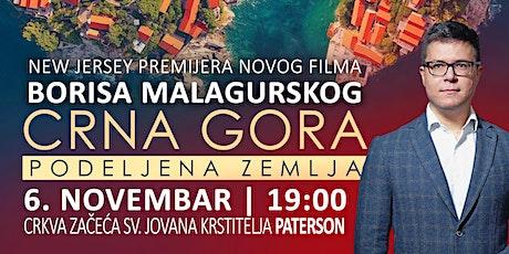 NJU DŽERZI - Premijera filma Borisa Malagurskog Crna Gora: Podeljena zemlja tickets