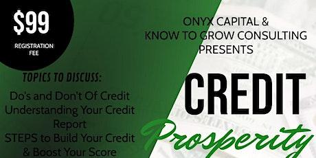 Credit Prosperity Part 1 ingressos