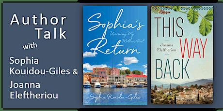 Author Talk with Sophia Kouidou-Giles and Joanna Eleftheriou tickets