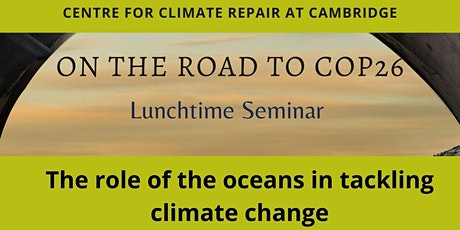 The role of the oceans in tackling climate change tickets