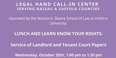 Lunch and Learn Know Your Rights tickets