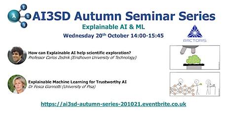 AI3SD Autumn Seminar II: Explainable AI & ML tickets