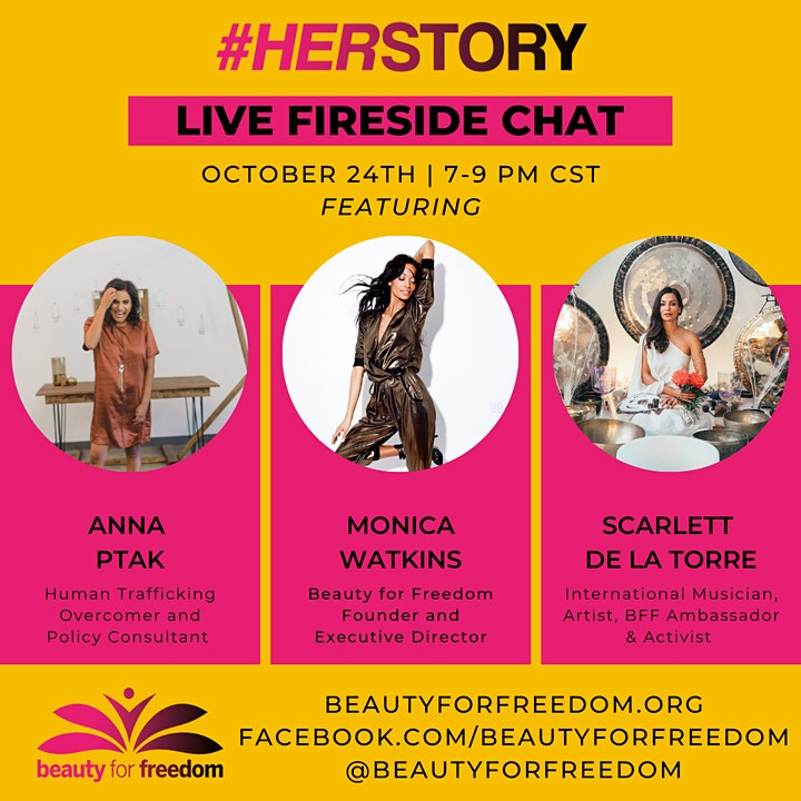 Herstory Fireside Chat hosted by Beauty for Freedom image