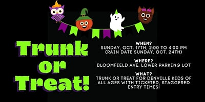 2nd Annual Denville Library Trunk or Treat! (In the lot behind Hunan Taste)