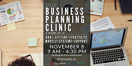 2022 Business Planning Clinic - 6hours of CE tickets