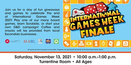 International Games Week Finale! (All Ages) tickets