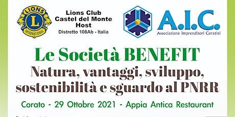 Le Società BENEFIT: natura, vantaggi, sviluppo, sostenibilità, sguardo PNRR biglietti