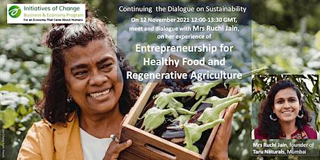 Entrepreneurship for healthy food and regenerative agriculture tickets