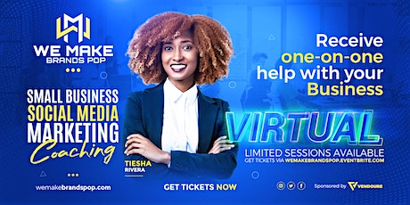 One-on-One Small Business Social Media Marketing Coaching tickets