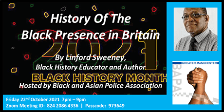 BHM: History of the Black presence in Britain - Linford Sweeney - Online tickets