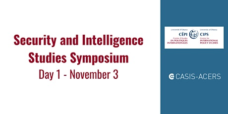 Security and Intelligence Studies Symposium:  November 3 tickets