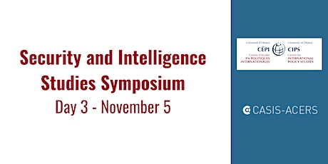 Security and Intelligence Studies Symposium:  November 5 tickets