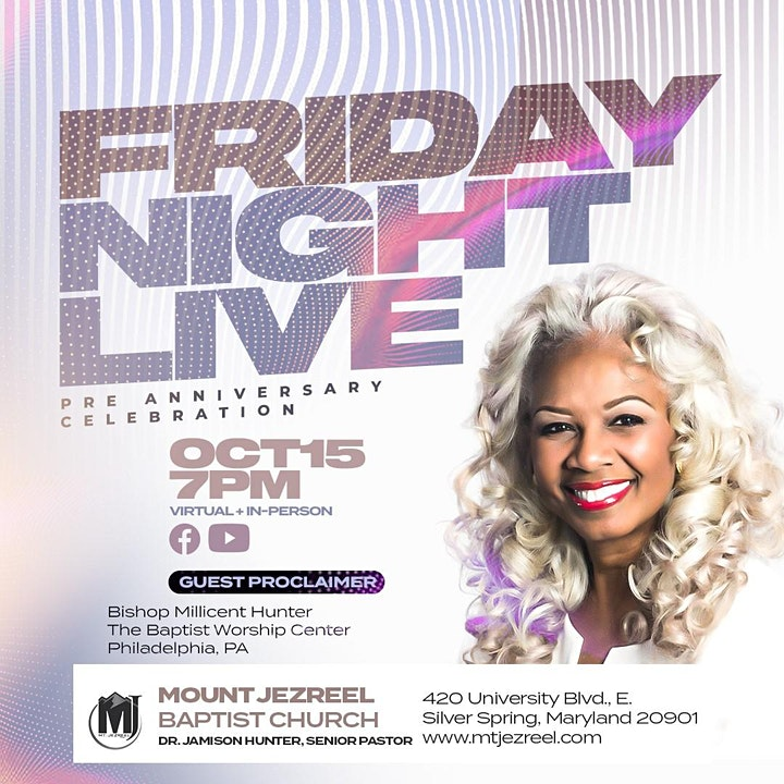 Friday Night Live! Registration Opens October 8th image