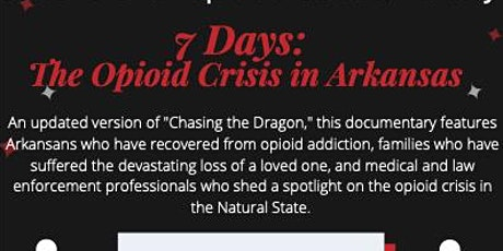 """Pre-Screen For """"7 Days: The Opioid Crisis in Arkansas tickets"""