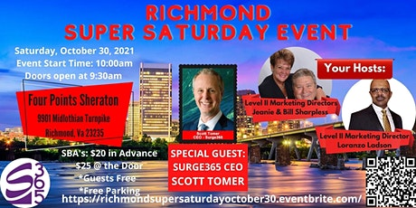 RICHMOND SURGE365  SUPER SATURDAY OCTOBER 30 tickets