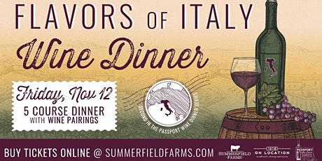 Flavors of Italy Wine Dinner tickets