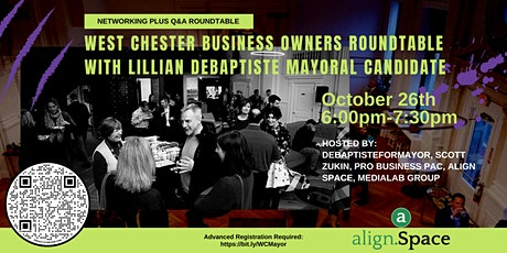 West Chester Business Roundtable w/Lillian DeBaptiste Mayoral Candidate tickets