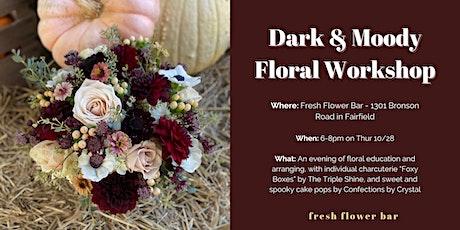 Dark and Moody Flower Workshop tickets