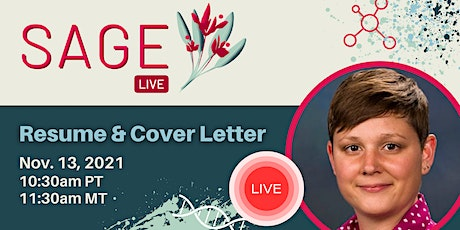 SAGE-Live: Resume and Cover Letter tickets