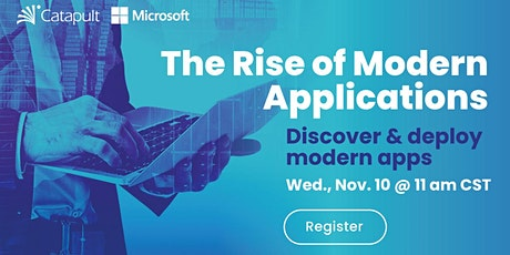 The Rise of Modern Apps tickets