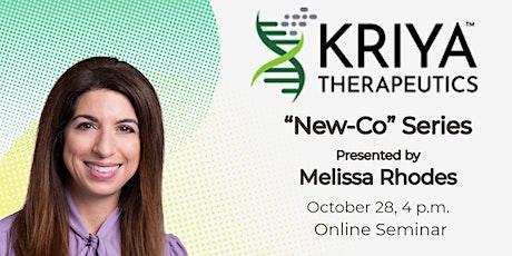 New Co Series - Kriya Therapeutics entradas