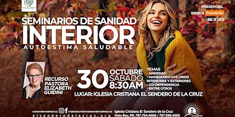Seminario de Sanidad Interior - Autoestima Saludable tickets