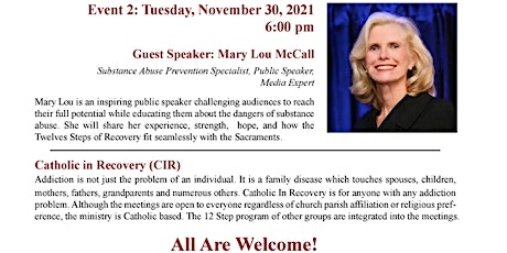 Recovery from Addictions and Unhealthy Attachments - Event Series  - #2 - tickets