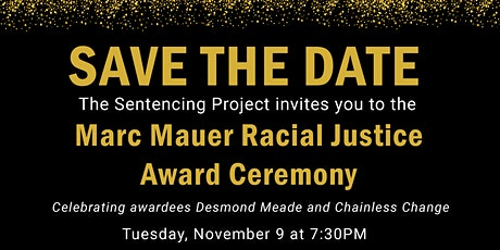 Marc Mauer Racial Justice Award Ceremony tickets
