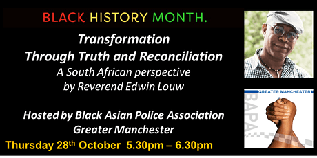Transformation Through Truth and  Reconciliation - Rev Edwin Louw - BAPA GM tickets