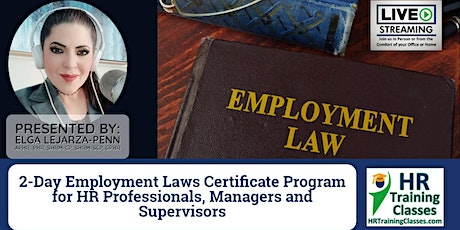 2-Day Employment Laws Certificate Program tickets