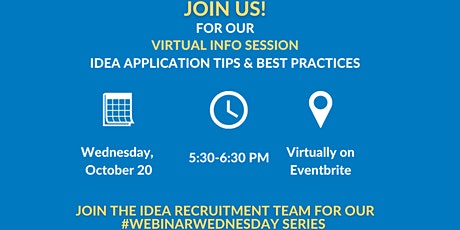 Virtual Webinar: IDEA 101/ Application Tips and Best Practices tickets