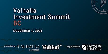 Valhalla Investment Summit BC tickets